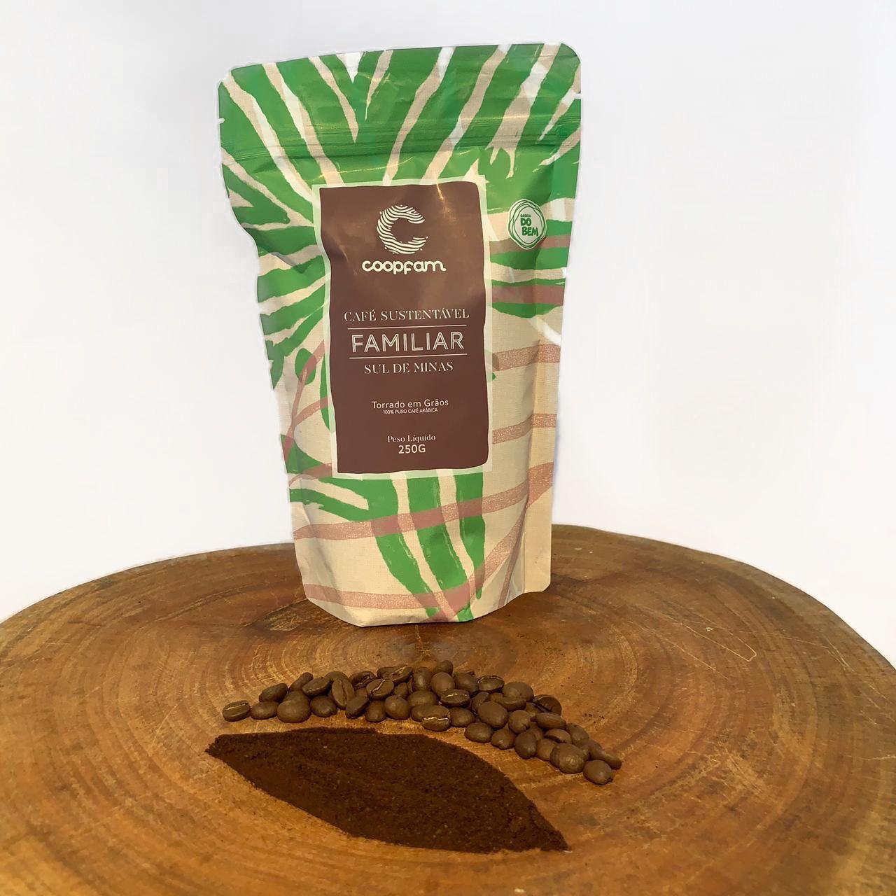 Café Coopfam - Familiar  Sustentável - Torrado e Moído - 500g