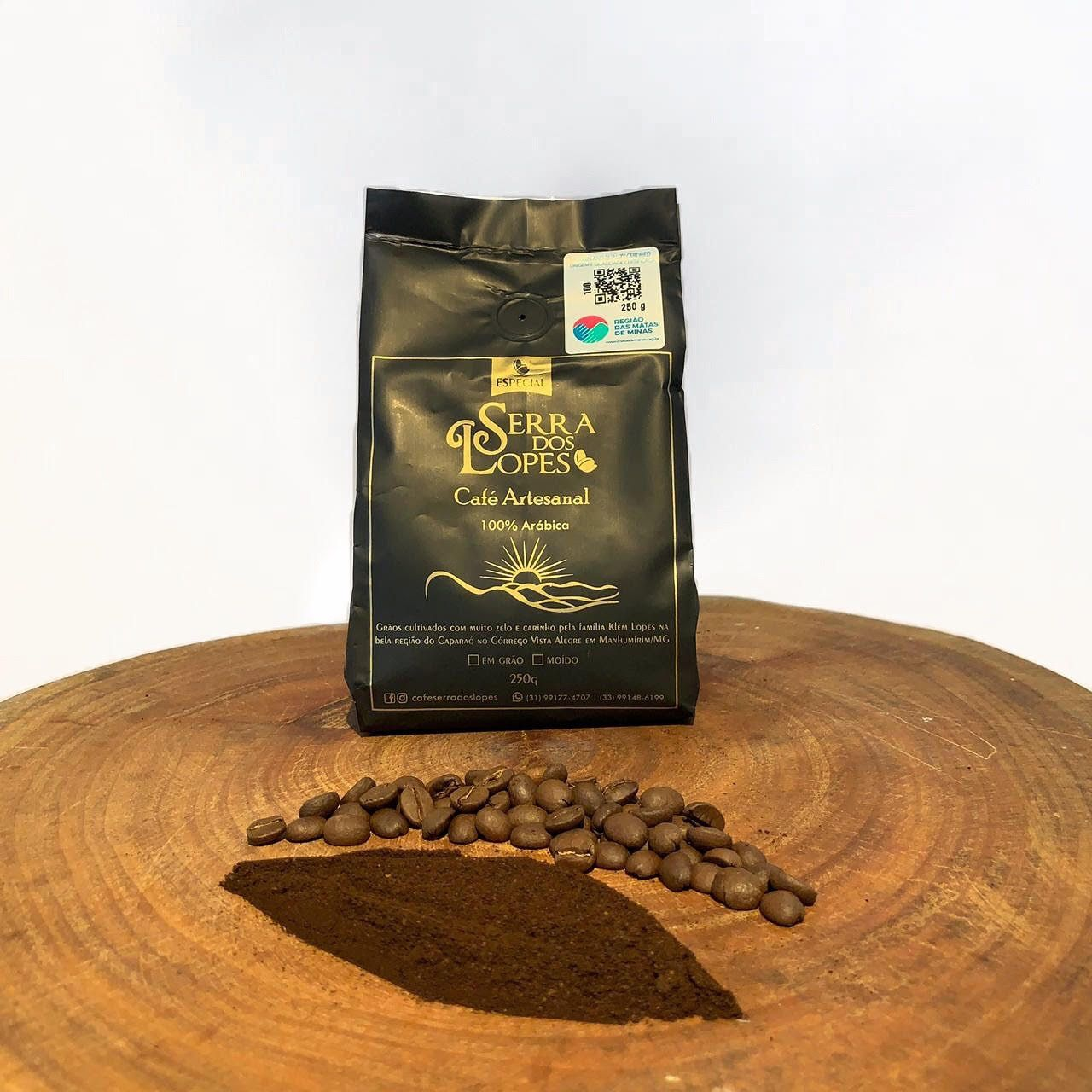Café Serra dos Lopes - Especial - Torrado em grãos - 250g