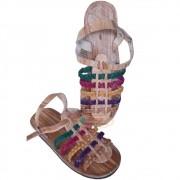 Sandália em couro Colorida