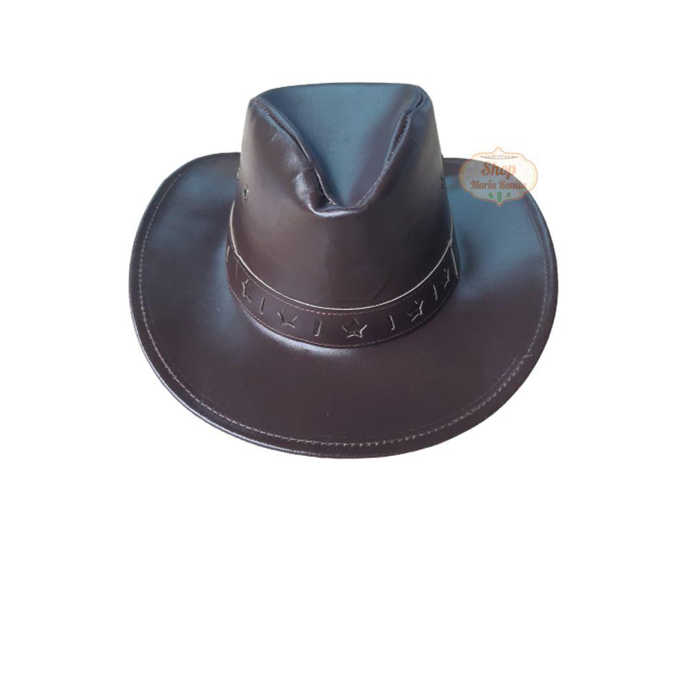 Chapéu Country Vaqueiro Marrom