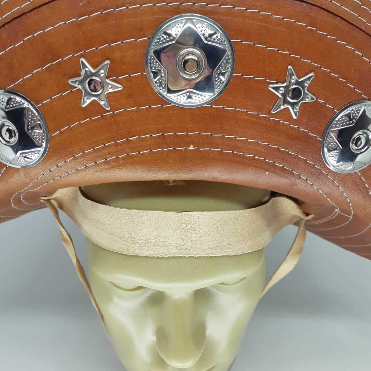 Chapéu de Cangaceiro Adulto Lampião Maria Bonita Couro Baulado