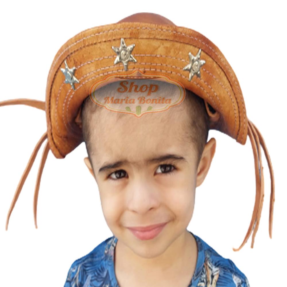 Chapéu de Cangaceiro Bebe Lampiao Maria Bonita Couro