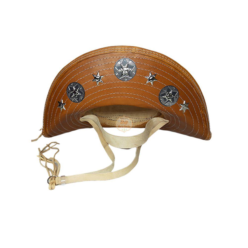 Chapéu de Cangaceiro Lampião Luiz Gonzaga Maria Bonita Couro Achatado