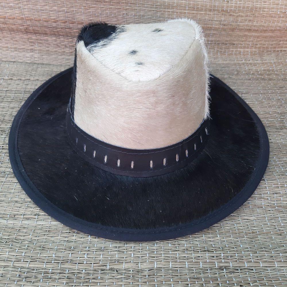 Chapéu de Couro Pelo de Carneiro