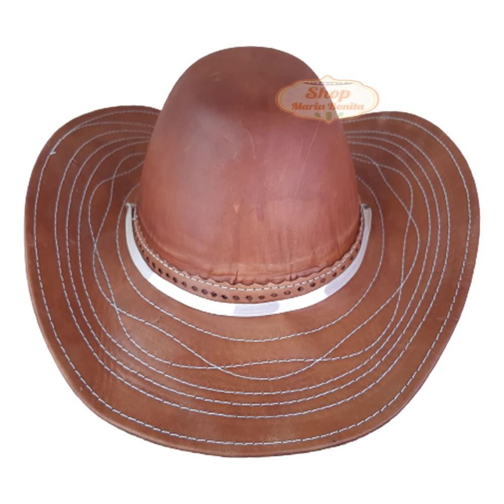 Chapéu de Cowboy Country Sertanejo em Couro