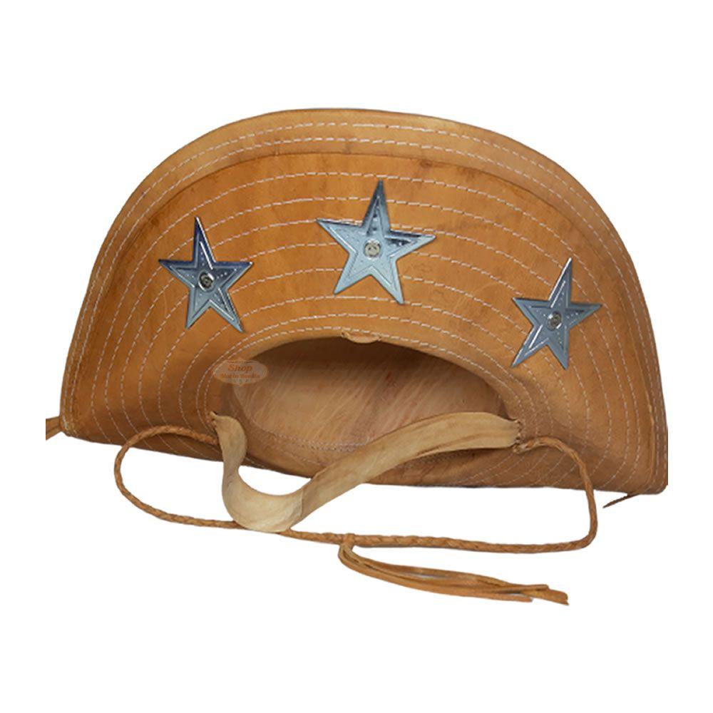 Chapéu de Lampião Cangaceiro Couro Natural Exclusivo