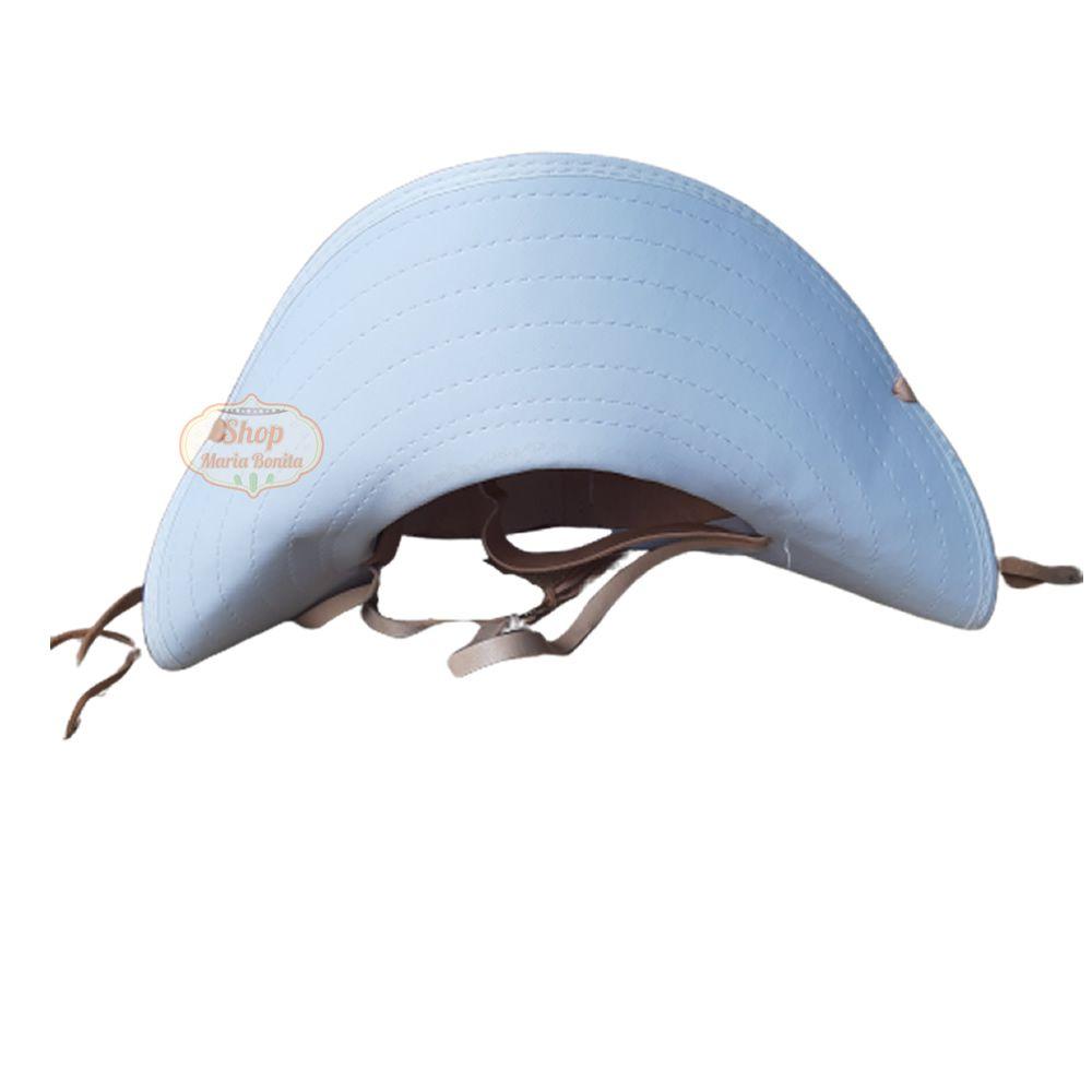 Chapéu de Lampião Couro branco Liso