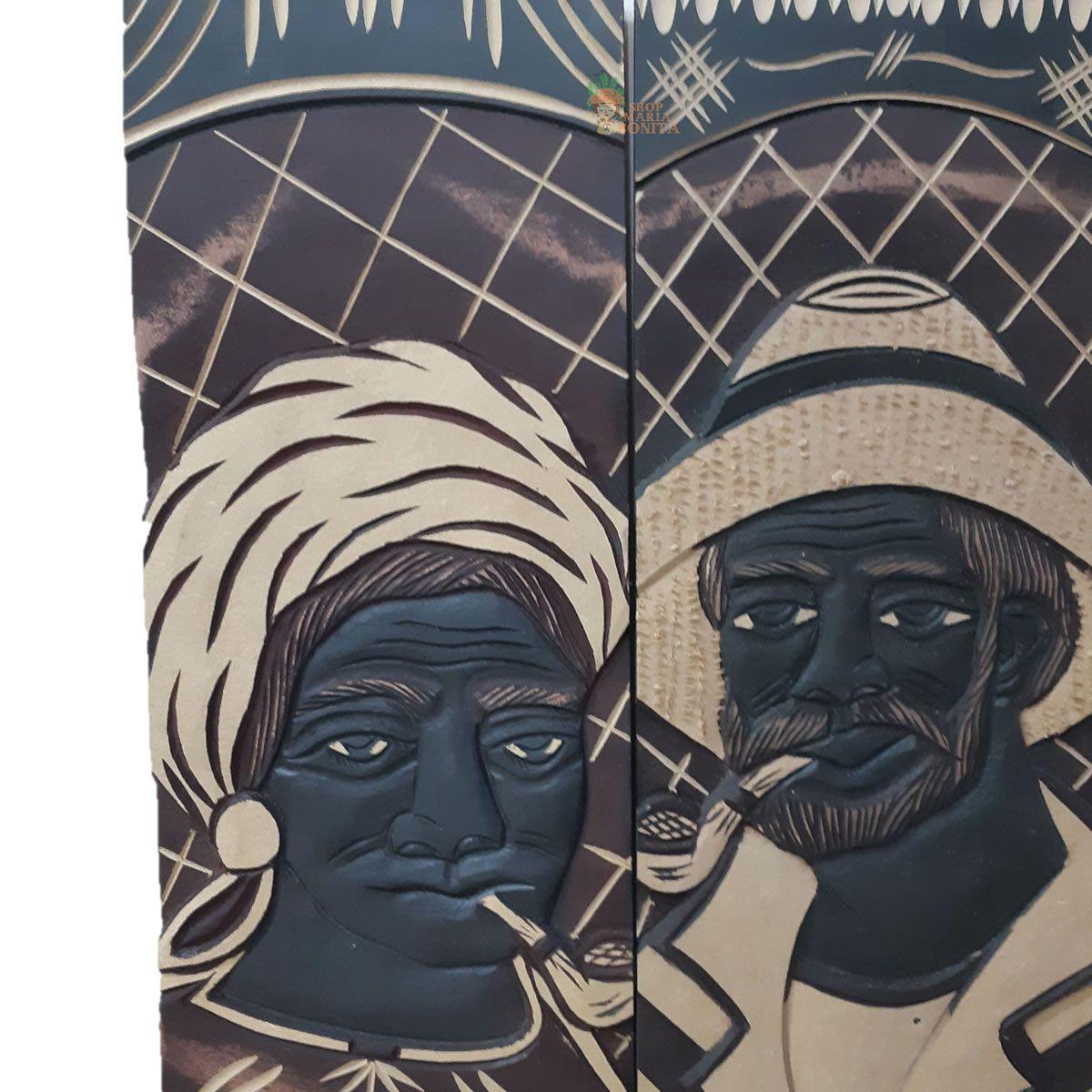 Quadro Preto Velho e Mãe Preta Casal