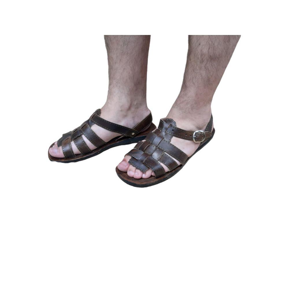 Sandália em Couro Masculina