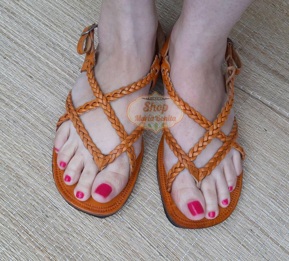 Sandália Hippie Laranja