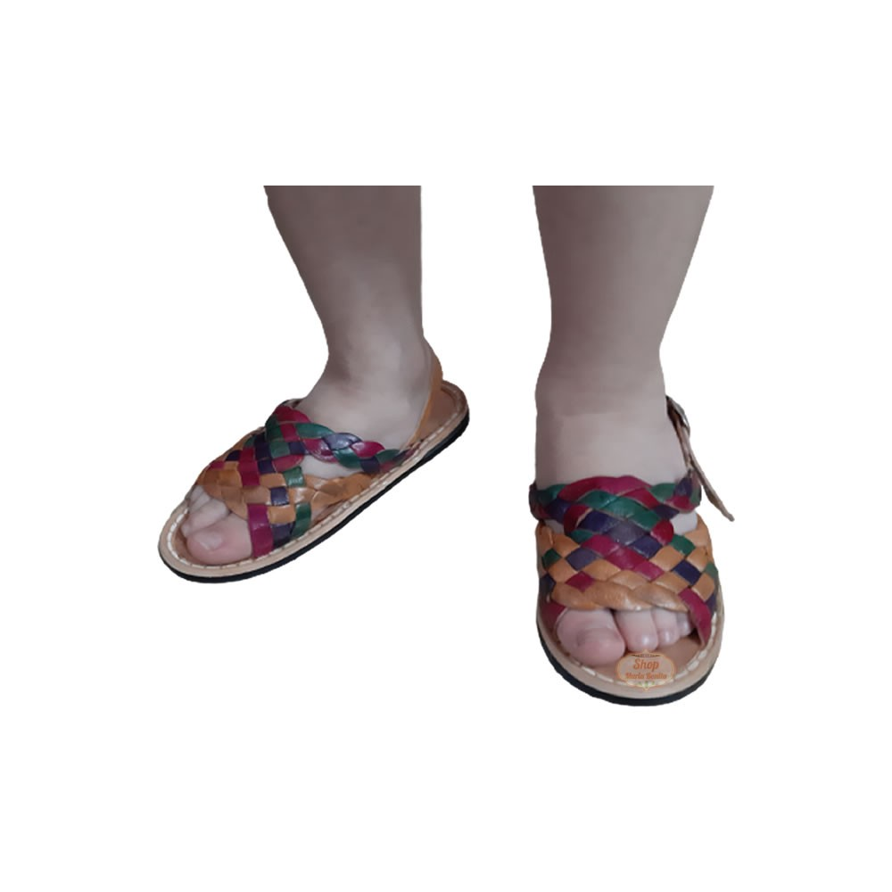 Sandália Infantil Couro Colorida