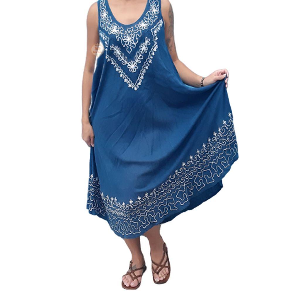 Vestido Indiano Bordado