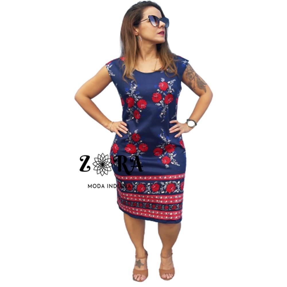 Vestido Indiano Estampado Midi