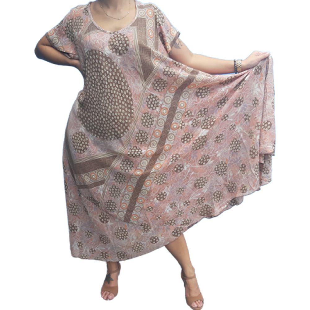 Vestido Indiano Longo Boho de Seda
