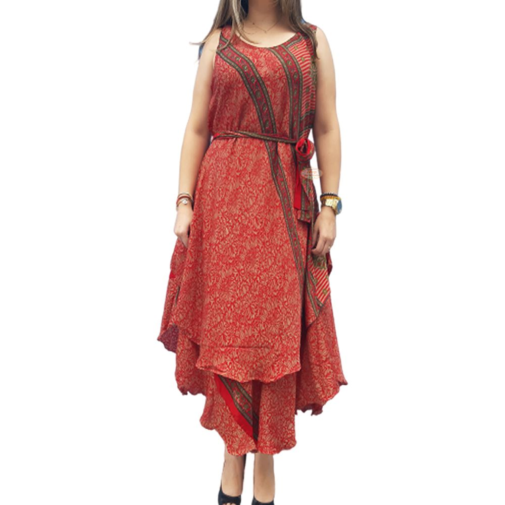 Vestido Indiano Cavado Seda