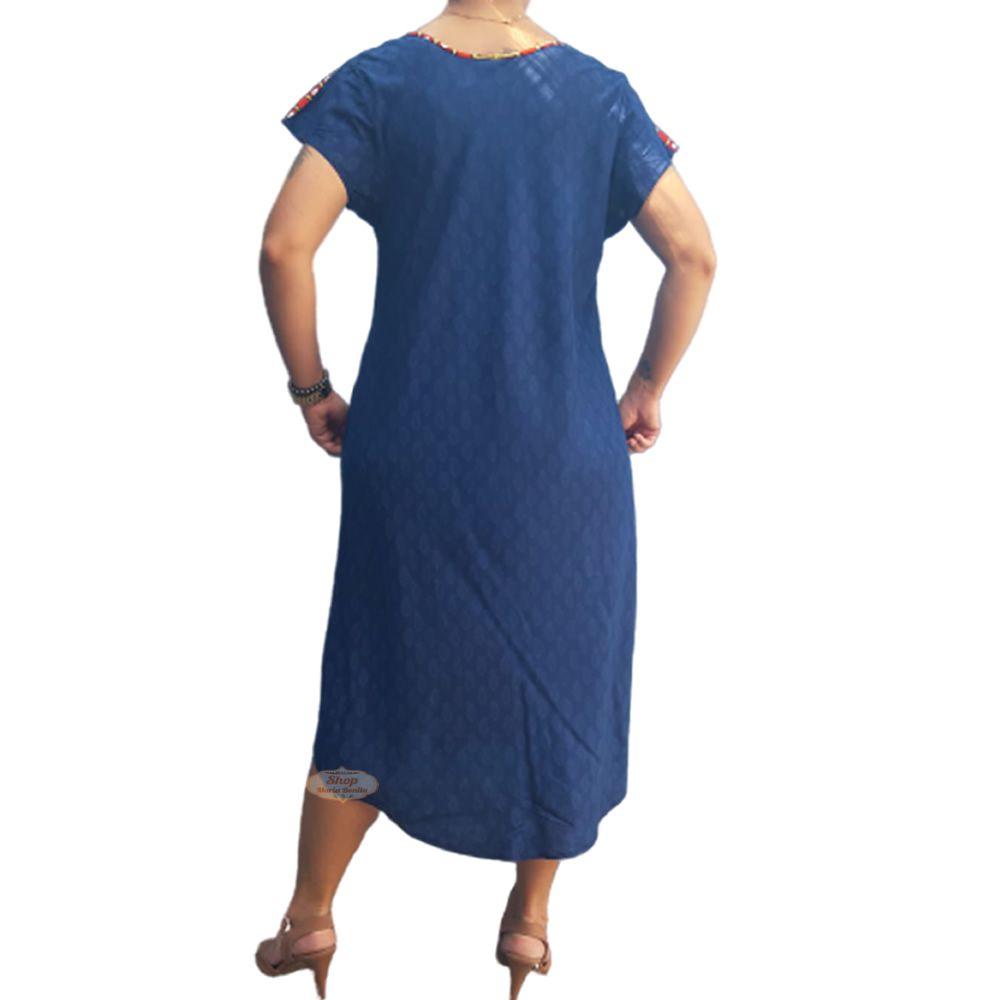 Vestido Trapezio Estampado