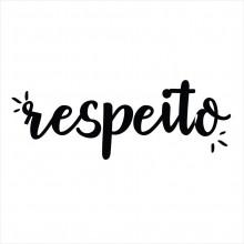RESPEITO PALAVRA ADESIVA