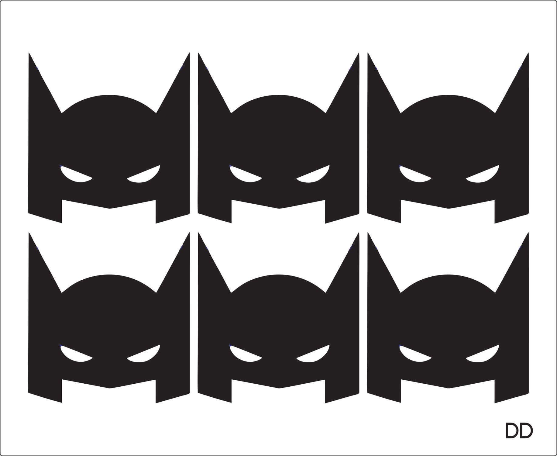 ADESIVO MÁSCARA DO BATMAN
