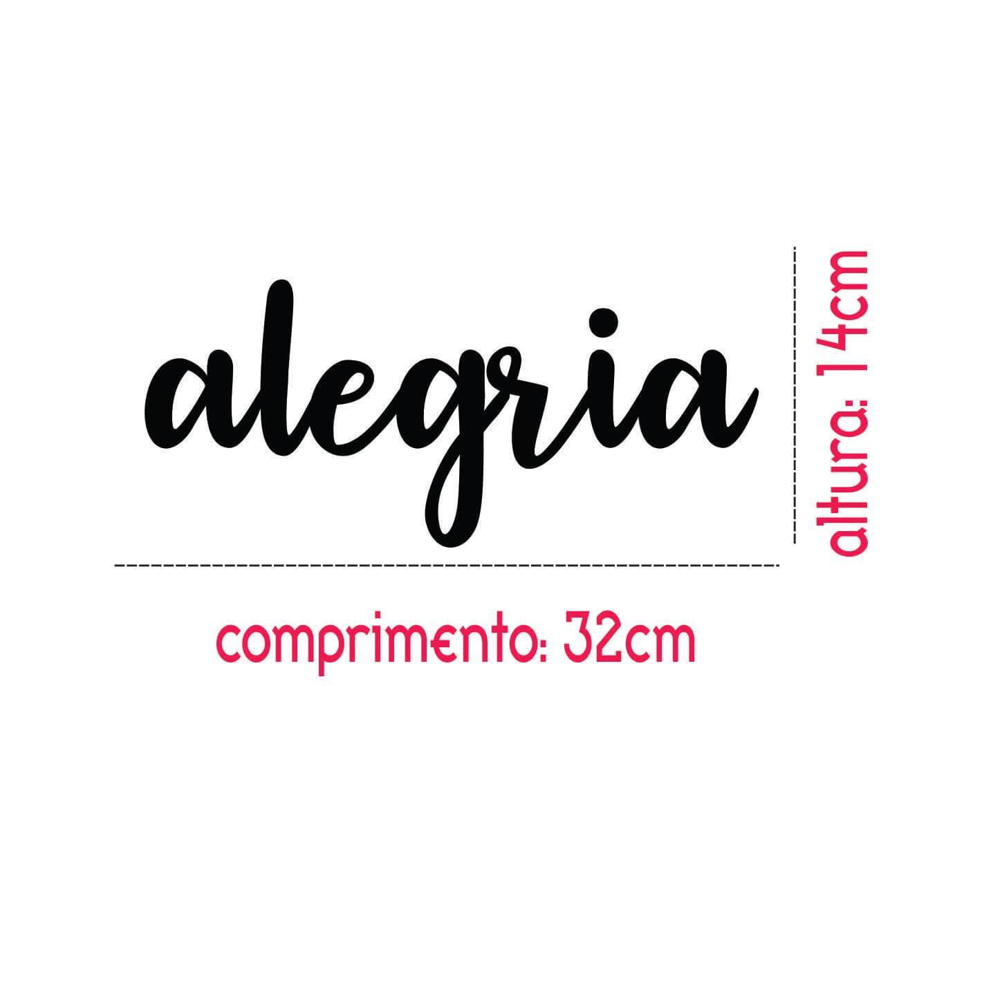 ALEGRIA PALAVRA ADESIVA