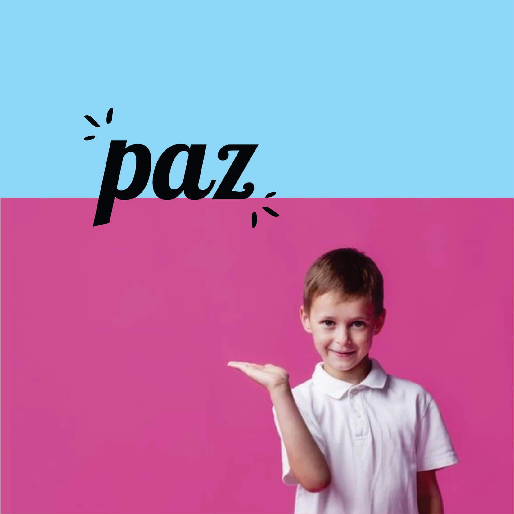 PAZ PALAVRA ADESIVA