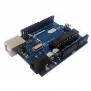 Placa UNO R3 com cabo USB (compatível com arduino)
