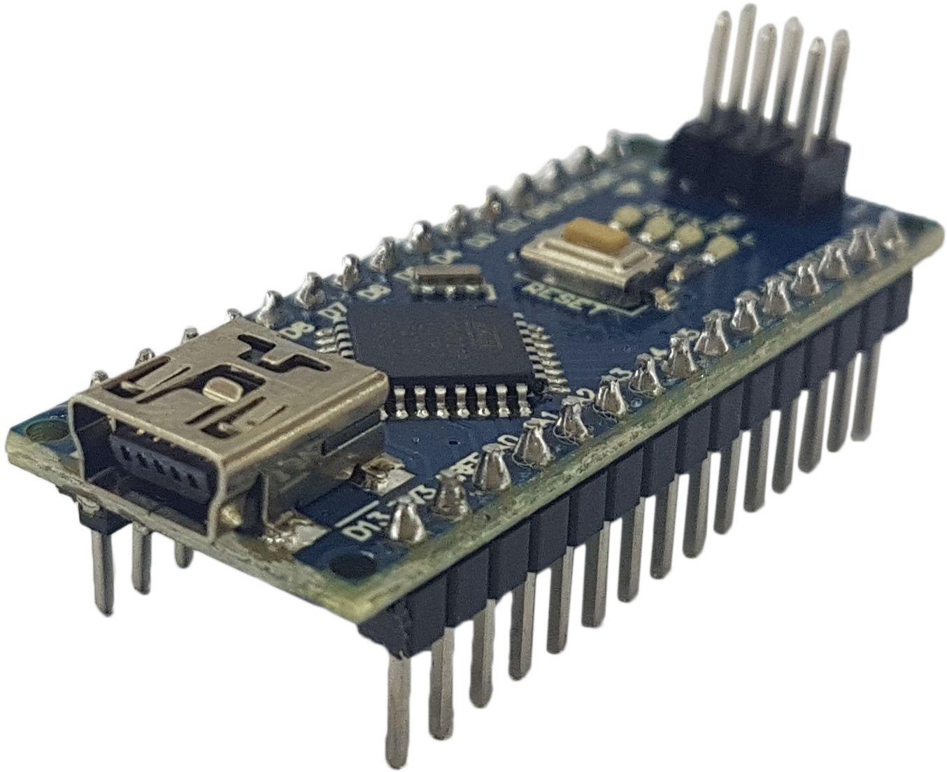 Placa Nano pino soldado com cabo USB (compatível com arduino)