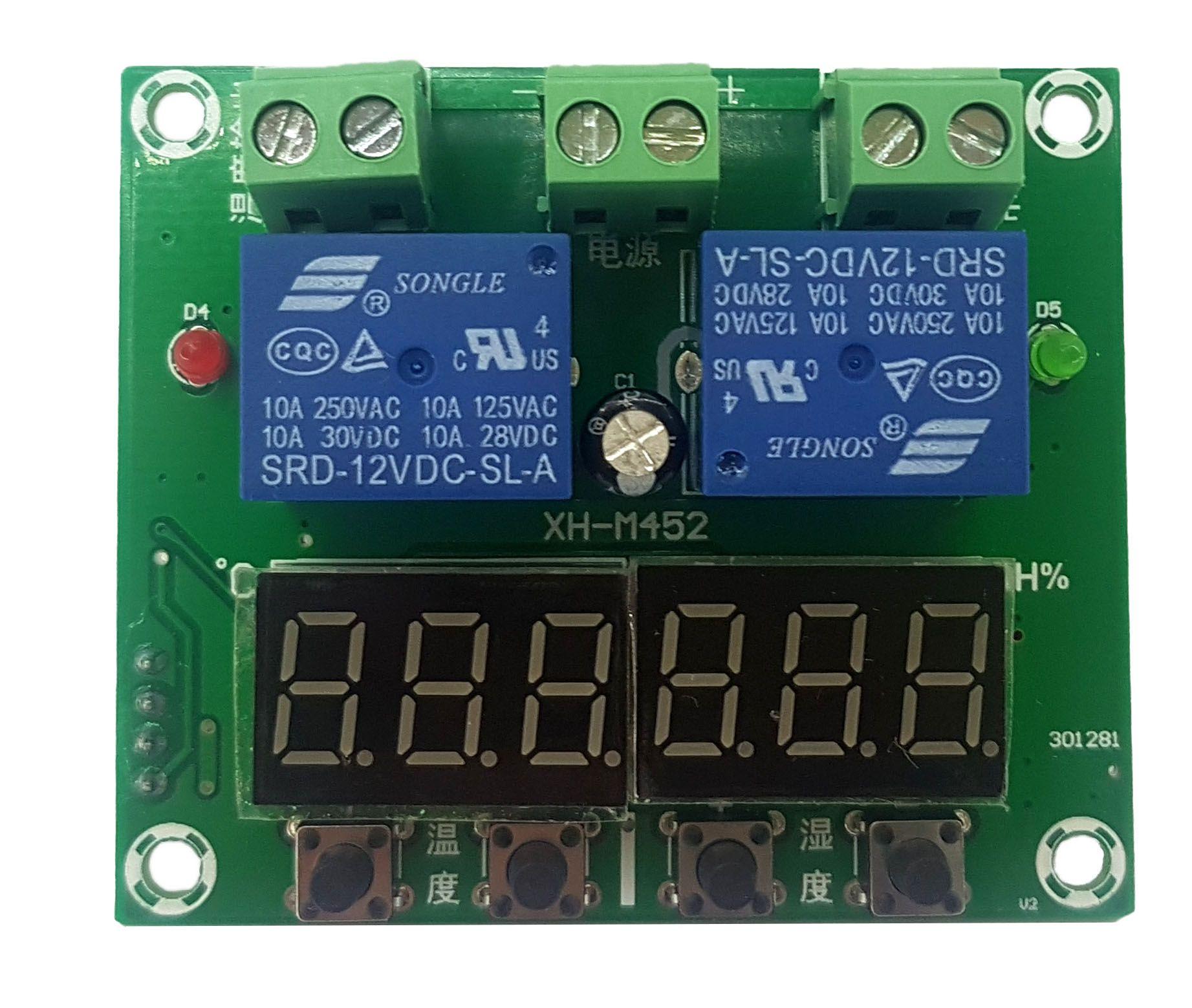 Controlador de Temperatura e umidade XH-M452