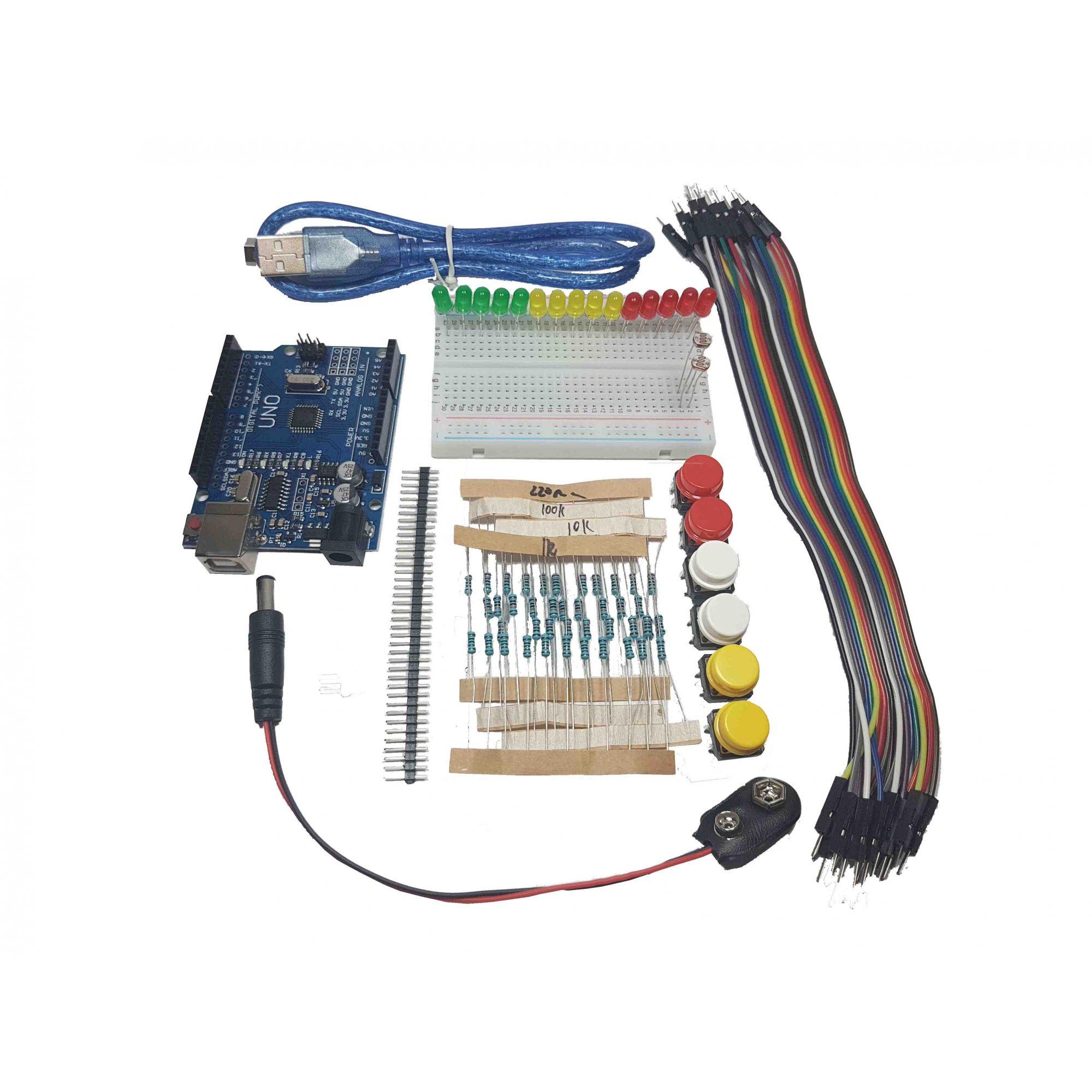 kit iniciante 1 com Placa uno ch 340g
