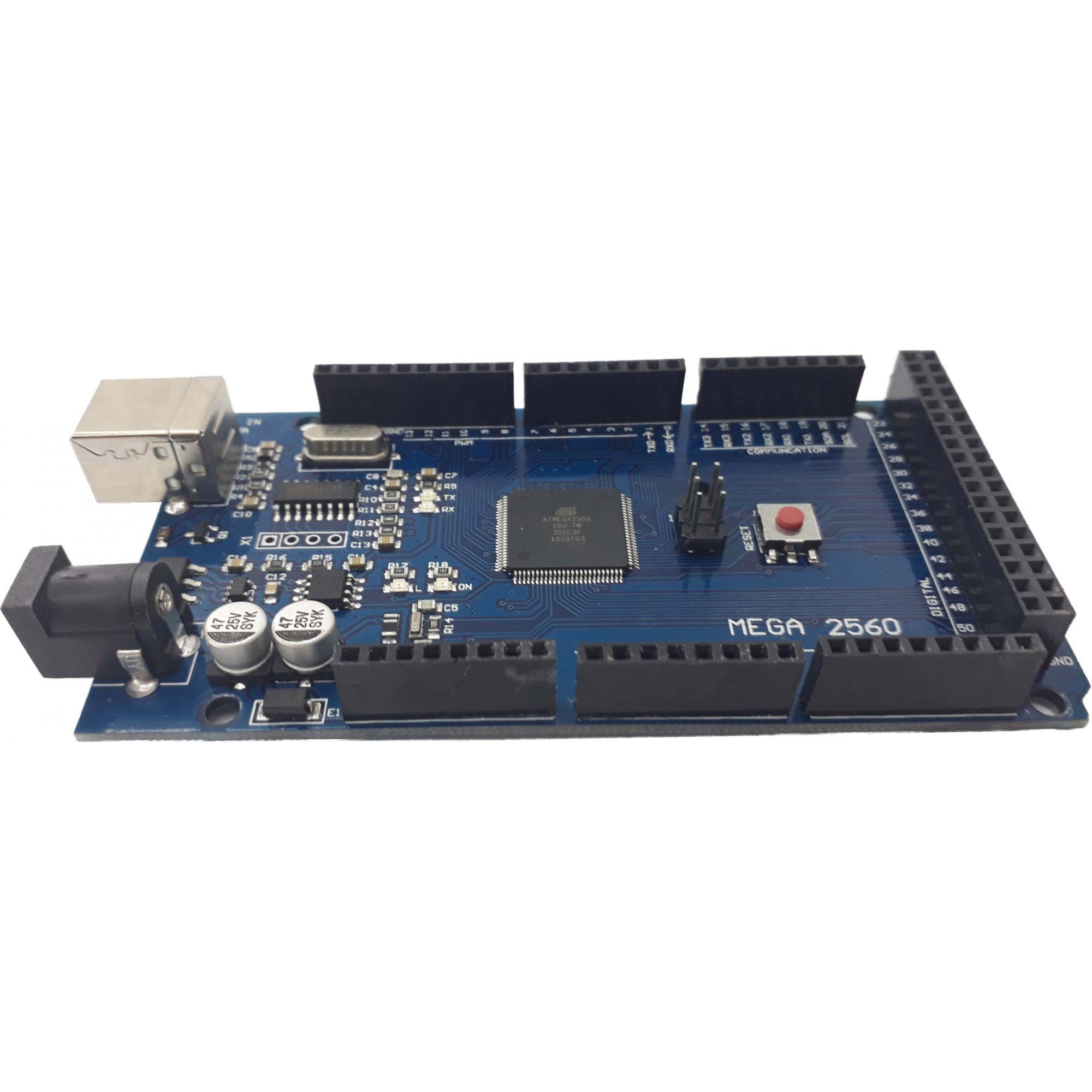 Placa mega ch340G com Cabo USB (compatível com arduino)