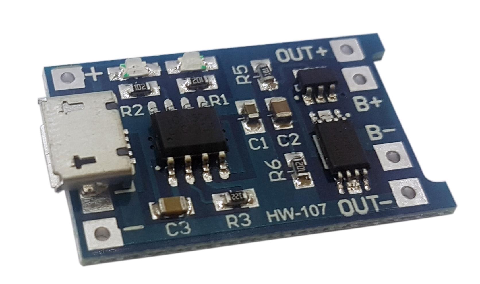 Módulo carregador de bateria TP4056