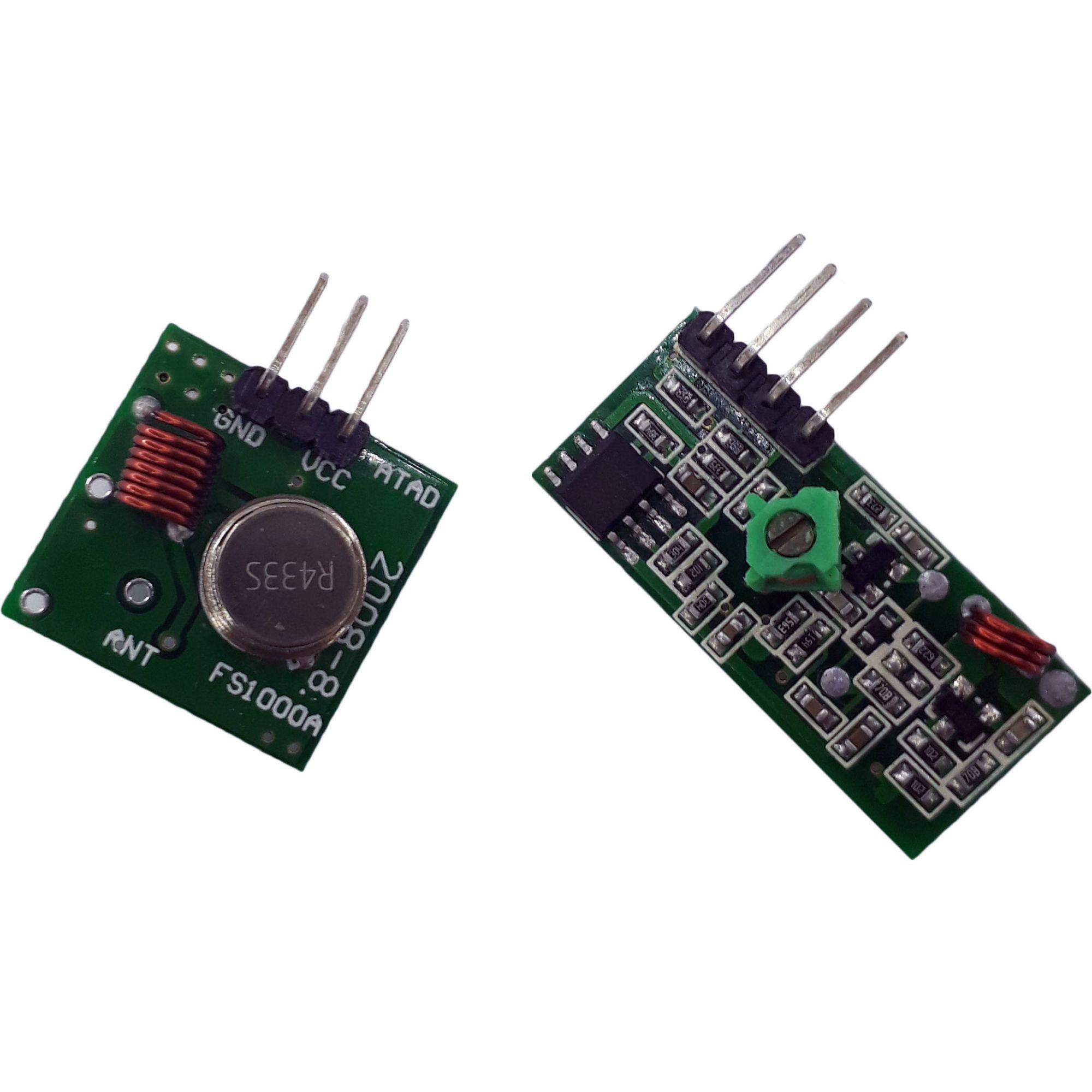 Módulo RF 433 MHz Transmissor e Receptor