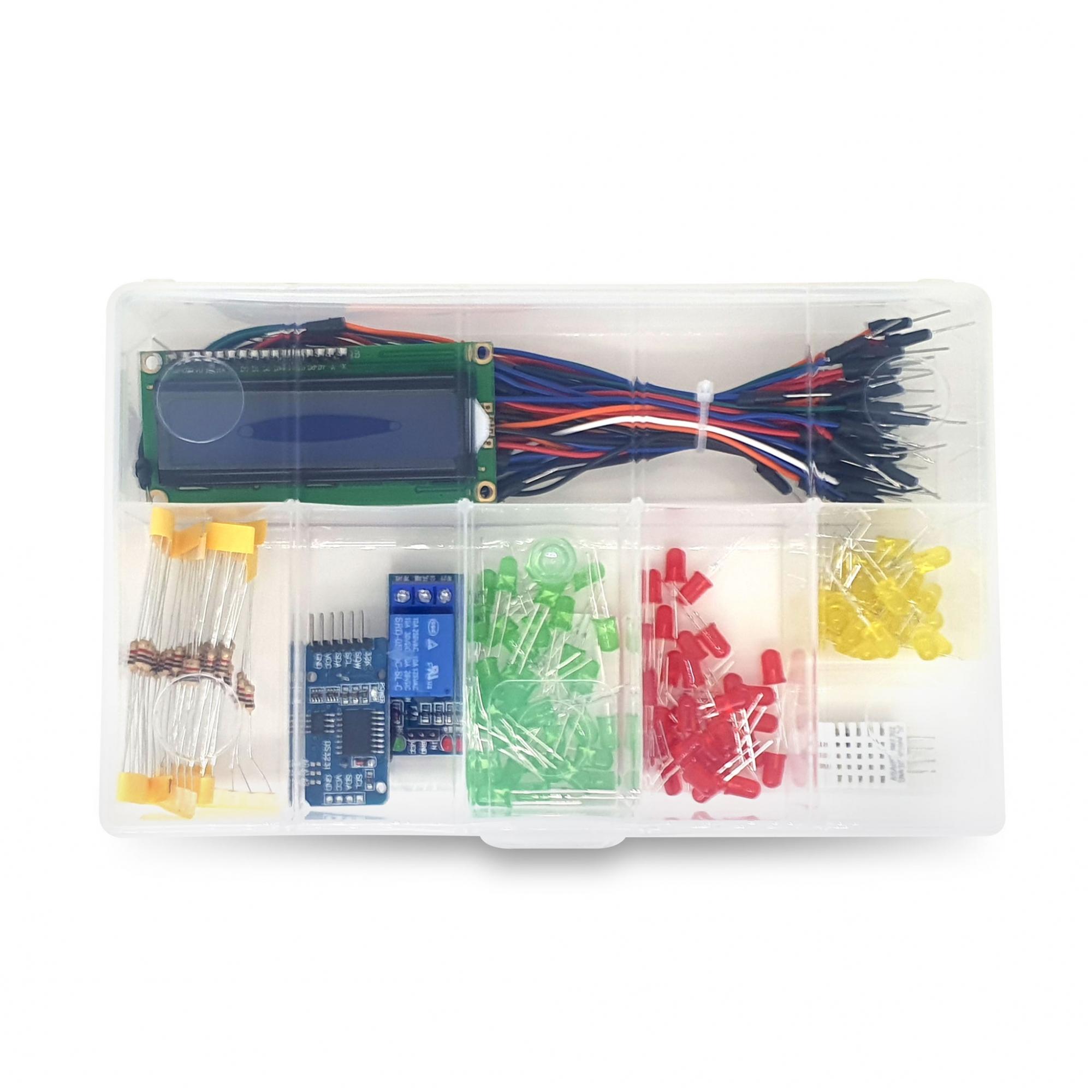 Organizador médio para componentes eletrônicos