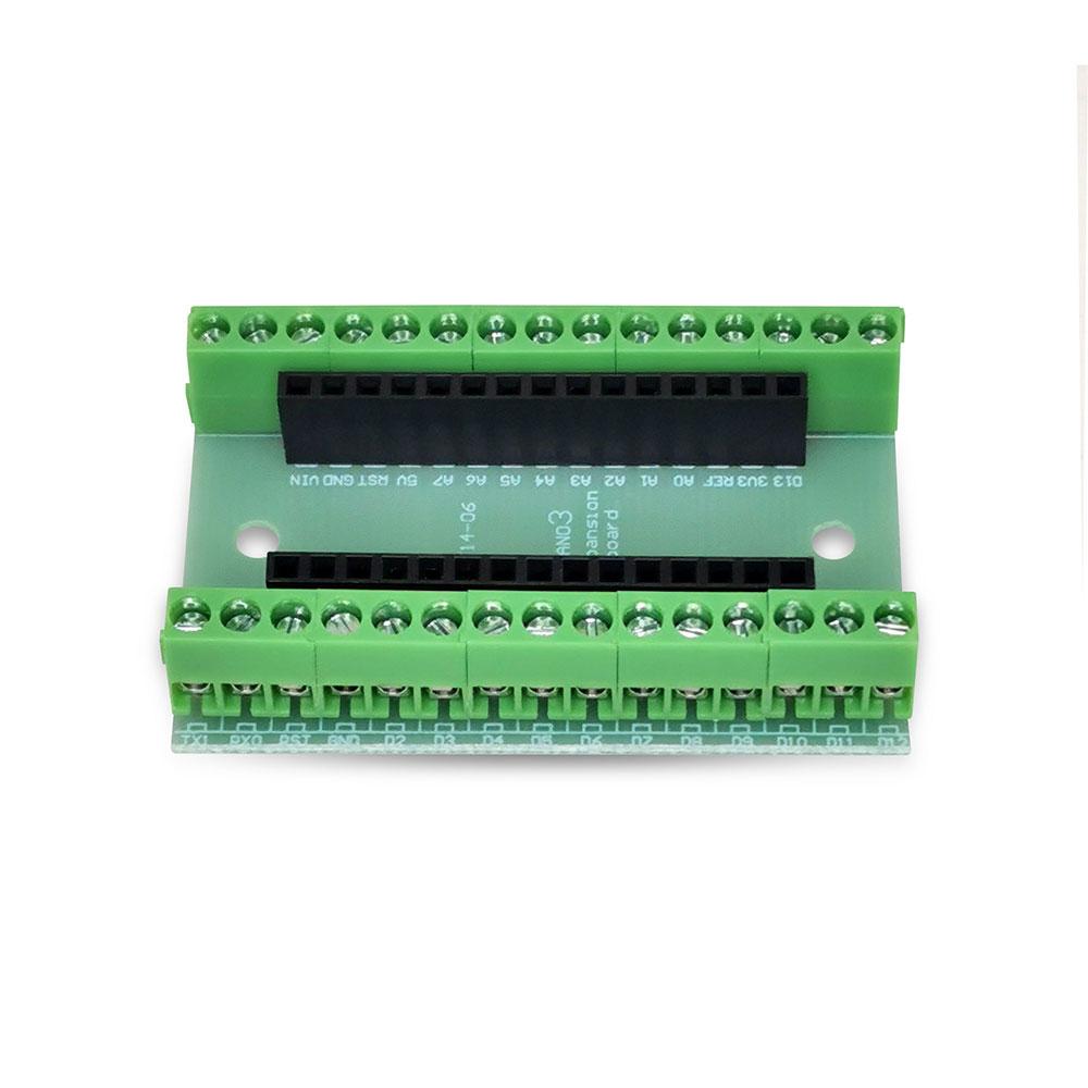 Placa Borne Arduino Nano com Terminal Adaptador