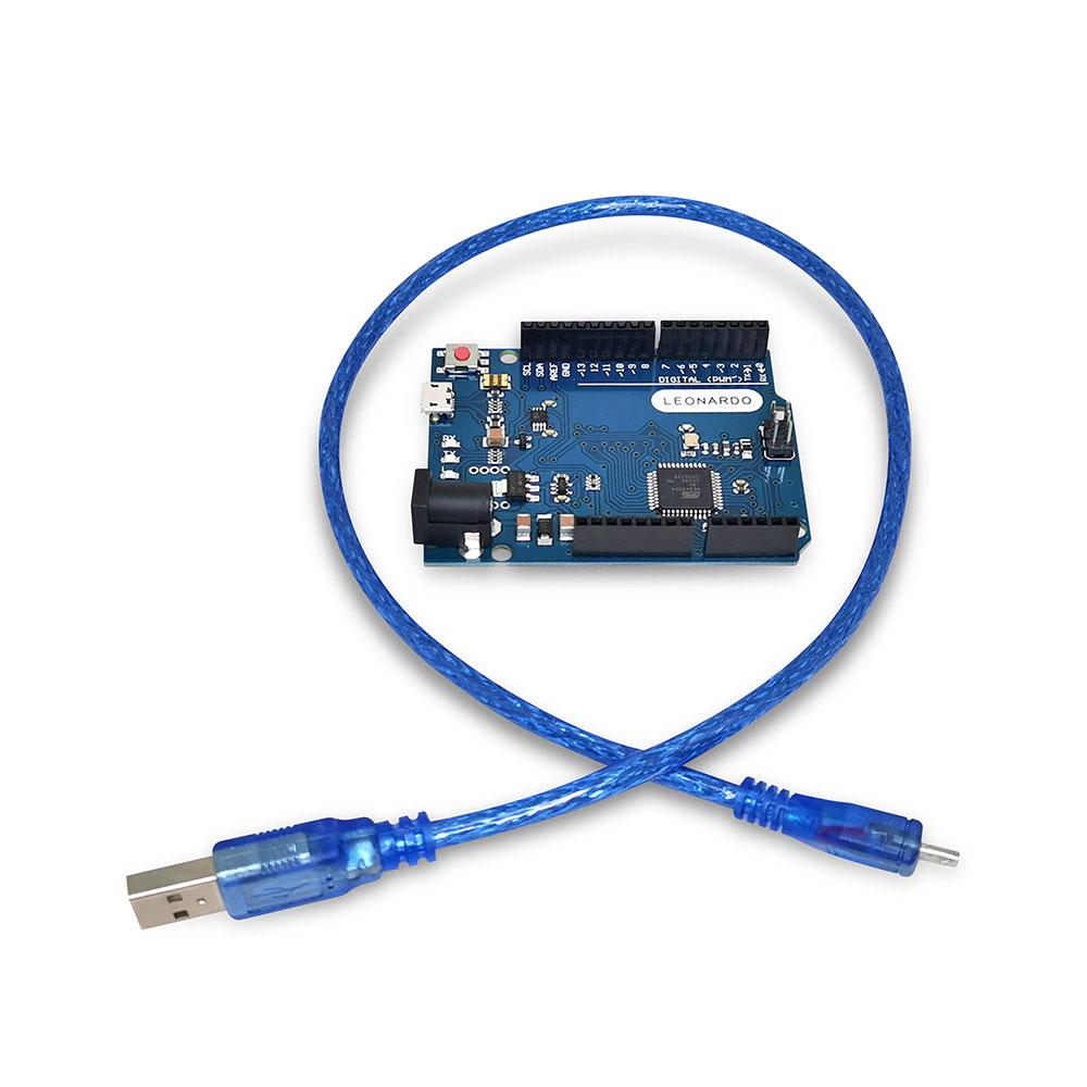 Placa Leonardo R3 com Cabo USB ATmega32U4 (Compatível com Arduino)