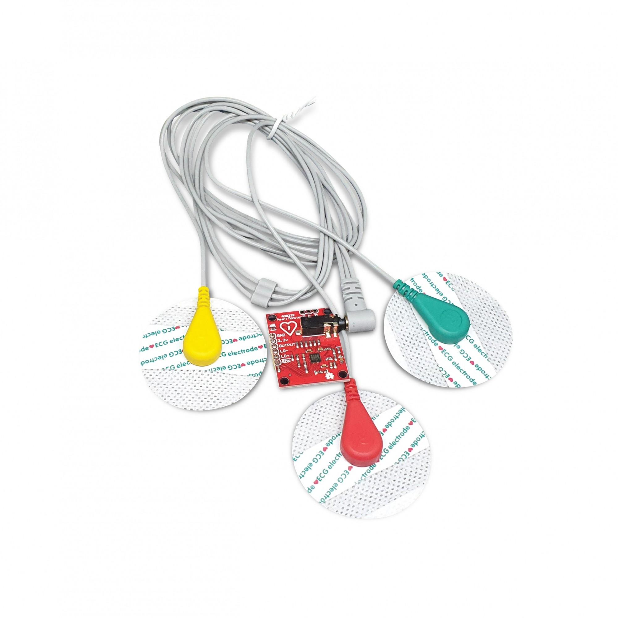 Sensor de ECG AD8232 Pulso e Frequência Cardíaca