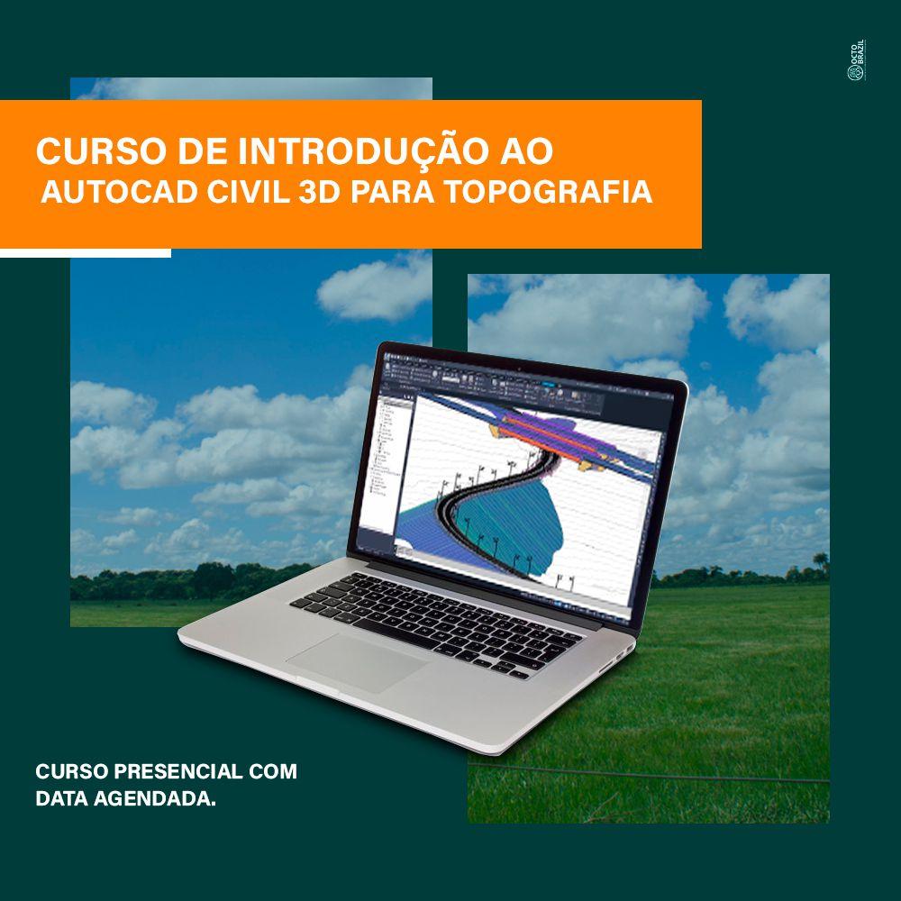 CURSO DE INTRODUÇÃO AO AUTOCAD CIVIL 3D PARA TOPOGRAFIA - PRESENCIAL