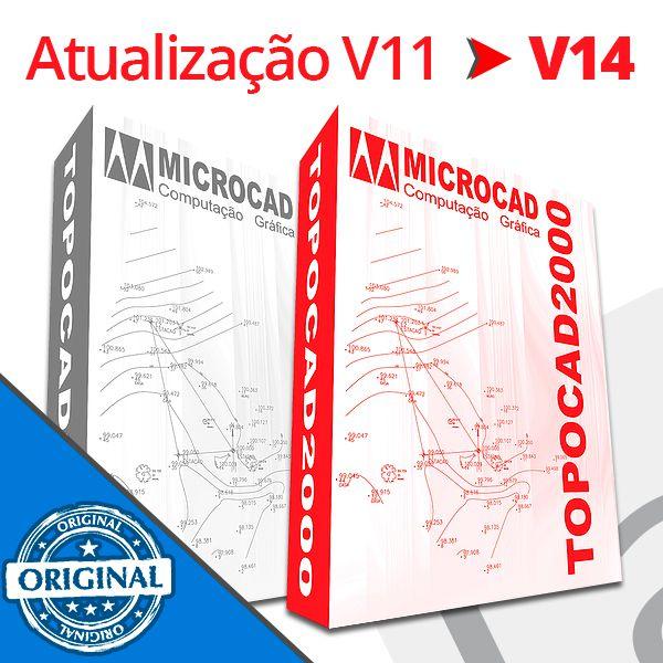 TOPOCAD2000 - ATUALIZAÇÃO V11 PARA V14