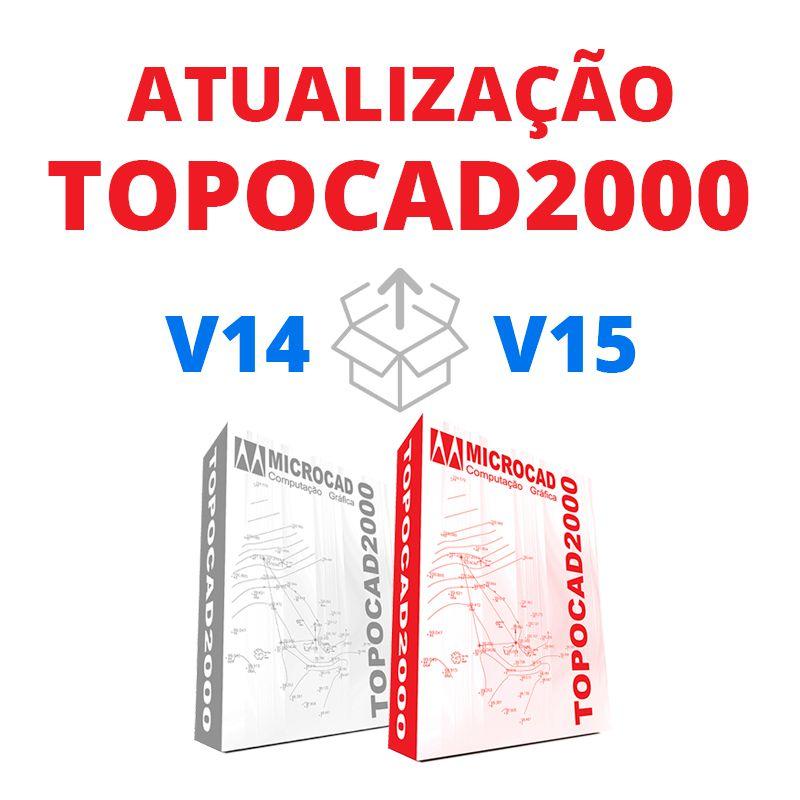 TOPOCAD2000 - ATUALIZAÇÃO V14 PARA V15