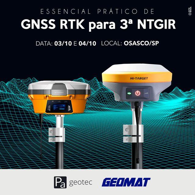 Treinamento Prático de GNSS RTK para o Geo Presencial Osasco/SP