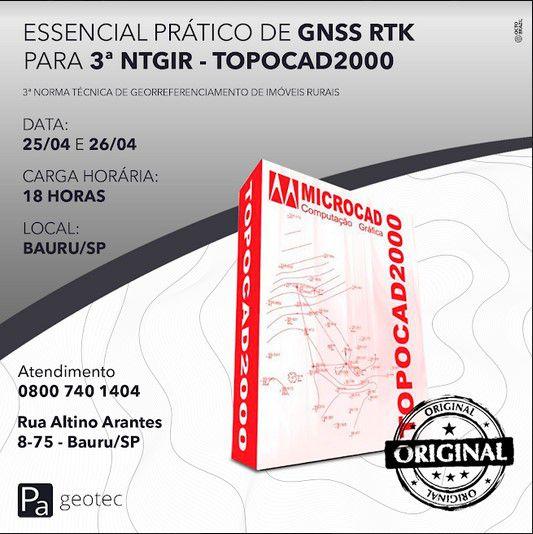 Treinamento Prático de GNSS RTK para o Geo Presencial dias 25 e 26 de Abril 2019