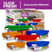 Conjunto de Alta Qualidade com 6 potes herméticos Click Fresh