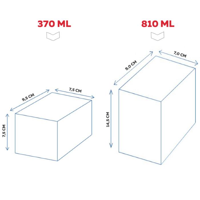 Conjunto Qualidade Premium com 3 lindos potes de Acrilico Sunrise