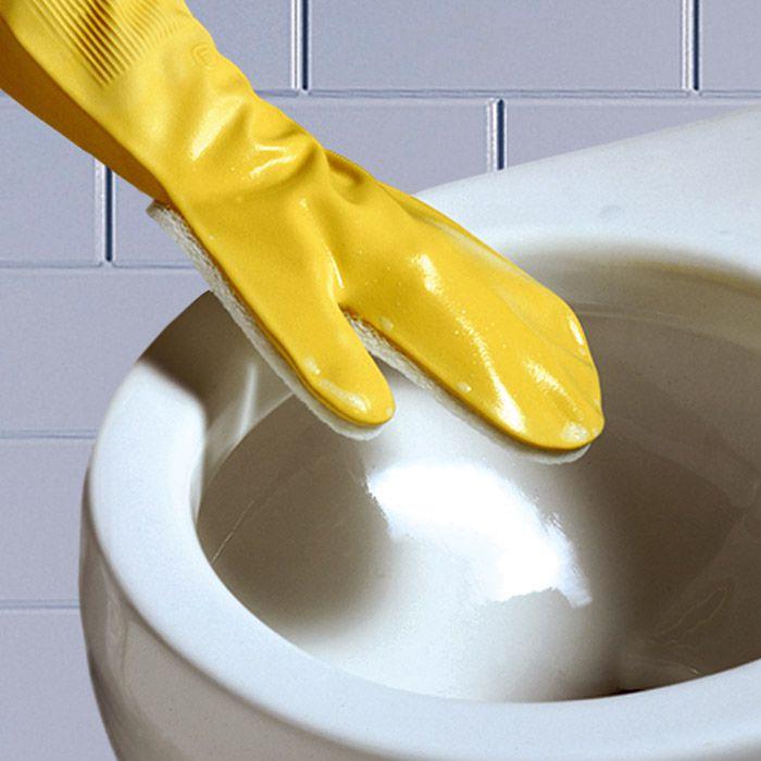 Kit 6 Luvas com Esponja para lavar sanitários, pias, etc.