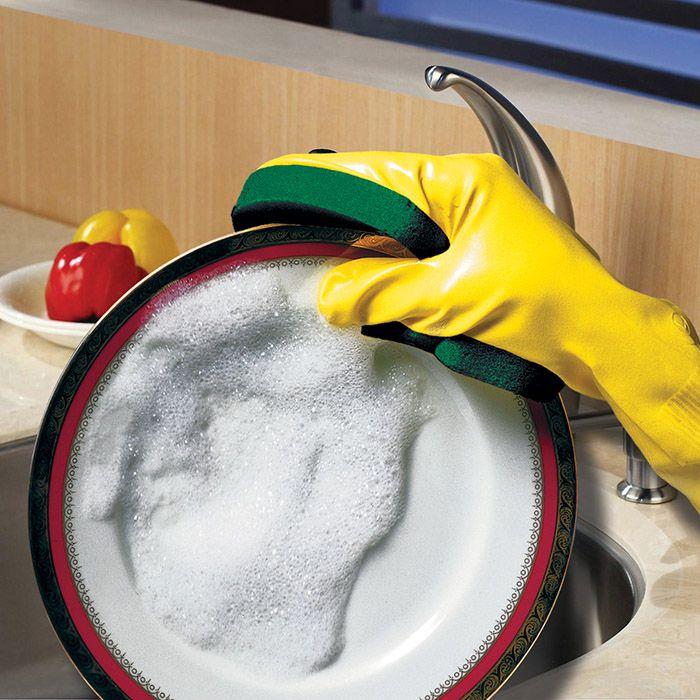 Kit 6 Luvas Esponja para lavar louças ou superfícies lisas
