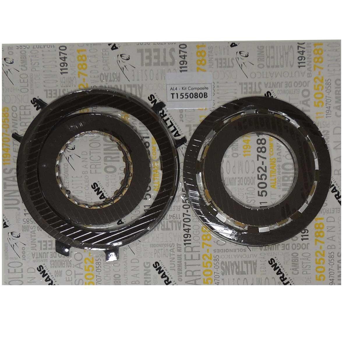 Kit de Discos de Composite do Câmbio Automático  - Al4 -  Frances T155080b  - Alltrans - Transmissão Automática