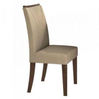 Cadeira Lopas Apogeu Imbuia Soft Suede Animale Bege