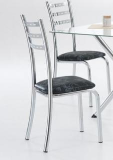 Cadeira Muller Cristina REF 6000C Cromada Assento Couríssimo
