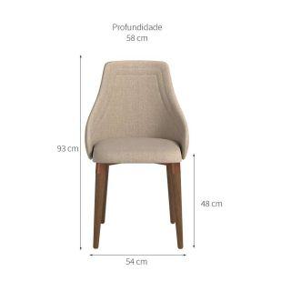 Cadeira Província Evelyn Natural Cobre/Linked 75