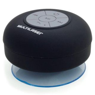 Caixa de Som Multilaser Bluetooth Shower Speaker SP225 a Prova D'Água