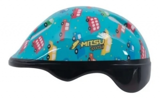 Capacete De Bike Infantil Little Child Carrinhos Verde Mitsu